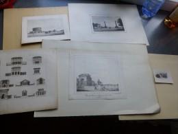 Vieux-Paris, Les Barrières De Paris, Lot De  5 Gravures Vers 1830? Ref 895 G8 - Estampes & Gravures