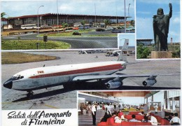 Lazio-roma-saluti Dall'aeroporto Di Fiumicino Vedute Multiple Aeroporto(gr.-col.-n.v.) - Fiumicino