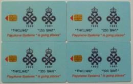 THAILAND - GPT - Queens Award - Set Of 4 - 160.... - 150 To 350 Units - Approx 20ex - Most Mint - RRR - Thaïlande