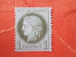 NUMERO 50  TRACE DE CHARNIERE COTE 100 EUROS - 1849-1850 Ceres