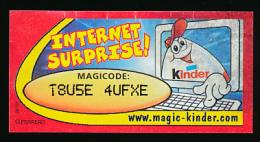 Magic Kinder : Magicode T8USE 4UFXE, Internet Surprise ! - Otros