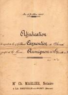 VP1585 - Acte Entre CARPENTIER De SEVRES & AUMIGNON Vente De Terres à LA  NEUVILLE - AU - PONT - Manuscripts