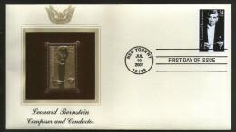 USA 2001 Leonard Bernstein Music Conductor Gold Replicas Cover Sc 3521 # 311 - Musique