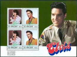 1985 S.Vincent Elvis Presley Block MNH** D275 - Elvis Presley