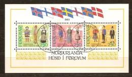 Faroer Féroé 1983 Yvertnr Bloc 1 (°) Oblitéré Used Cote 16,50 Euro - Féroé (Iles)