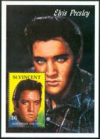 1992 S.Vincent  Elvis Presley Block MNH** D247 - Elvis Presley