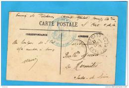 Guerre 14-18service Santé-cachet-hopital Complémentaire -N° 60- ST CAST -c DuN - Cpa Du 17 08 1916 - Guerre De 1914-18