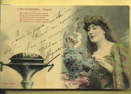 CARTE POSTALE  LES PARFUMS  MUGUET  BRULE PARFUM  EDITION BERGERE 1 - Parfum & Cosmetica