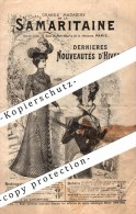 Ancien Catalogue Mode 1900-1901 , SAMARITAINE , Paris , Old Fashion Catalogue !!! - Historische Bekleidung & Wäsche