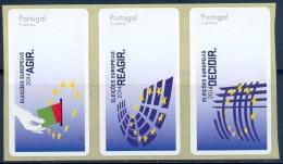 PORTUGAL ATM  Afinsa #67 Strip Of 5 – No Value - ATM/Frama Labels