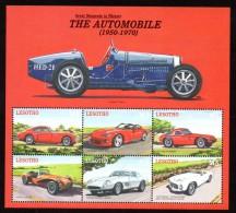 LESOTHO - Cisitalia - Dodge - Ferrari - TVR - Lotus - Pegasus -  6 Stamps - Timbres - Zegels - Coches