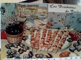 LES BROCHETTES DE MOULES. RECETTE  COINCHIGLIE COZZE COCHIGLIA   N1975 EU17134 - Ricette Di Cucina