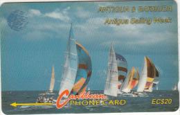 ANTIGUA & BARBUDA(GPT) - Sailing Week 1/2, CN : 13CATB(white Band), Tirage 30000, Used - Antigua And Barbuda