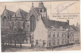 Poperinge, Poperinghe, Eglise Saint Bertin et March� au Beurre (pk16770)