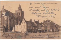 Poperinge, Poperinghe, Sint Bertinus kerk en markt (pk16771)