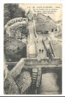 Cp, 50, LE Mont Saint Michel, Abbaye, Vue De L'Escalier Prise En Aéroplane - Le Mont Saint Michel