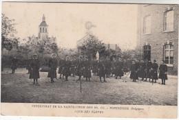 Poperinge, Poperinghe, Pensionnat de la Sainte Union des SS CC Cour des �l�ves (pk16783)