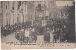 Poperinge, Poperinghe, Jubelfeesten van O.L.V van Sint Jan, praalwagen van het mirakelbeeld (pk16784)
