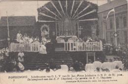 Poperinge, Poperinghe, Jubelfeesten van O.L.V van Sint Jan, de aanspraak van den E.P. Theyskens (pk16787)