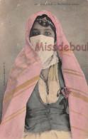 ALGERIE - Mauresque Voilée - Voile Coloré - Dos Vierge -  2 Scans - Scenes