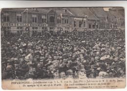 Poperinge, Poperinghe, Jubelfeesten van O.L.V van Sint Jan, De menigte bij de mis op de markt (pk16788)