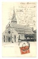 Cp, 92, Clamart, L'Eglise, Voyagée - Clamart