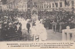 Poperinge, Poperinghe, Jubelfeesten van O.L.V van Sint Jan, Het mirakelbeeld ter groote markt gedragen (pk16792)
