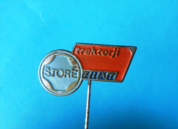 FIAT Tractors - Slovenian Vintage Pin Badge * Tractor Tracteur Traktor Trattore Anstecknadel Distintivo Italy Italia - Tractors