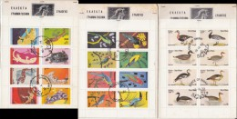 DHUFAR Reptiles 1972, STATE OF OMAN, Waterbirds 1973, NAGALAND Birds 1960 - Fantasy Labels