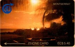Montserrat -  2CMTA, GPT, Sunset, 5.40 EC$, 1000ex. 1989, Used - Montserrat