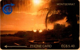 Montserrat -  2CMTA, GPT, Sunset, 5.40 EC$, 1000ex. 1989, Used