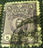 Peru 1909 Jose Francisco De San Martin 5c - Used - Peru