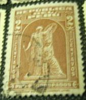 Peru 1938 Protection By John Q.A. Ward Postal Tax 2c - Used - Peru