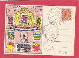 CP - DUDELANGE - Journée Du Timbre 28 Juillet 1946 - Fédération Des Sociétés Philatéliques Du Grand Duché Du Luxembourg - Düdelingen