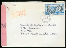 Lettre Recommandé AR, Mantes-la-Jolie (1985), Affranchissement YT PA N° 44 - Marcophilie (Lettres)