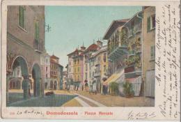 CPA ITALIE ITALIA DOMODOSSOLA Piazza Marcato Carte Colorisée 1904 - Verbania