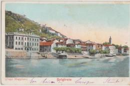 CPA ITALIE ITALIA BELGIRATE Lago Maggiore Carte Colorisée 1904 - Verbania
