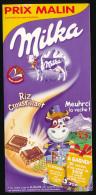 """Publicité Cartonnée (2009) : Chocolat MILKA, """"Meuhrci La Vache"""", Recto-verso, Régle Sur Meuhsure... - Publicités"""