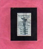ITALIA REPUBBLICA ITALY REPUBLIC 1954 ESPERIMENTO DI TRASPORTO POSTA AEREA PER ELICOTTERO LIRE 25 USATO USED OBLITERE´ - 1946-60: Gebraucht