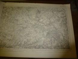 1847 Carte De La Région De CHATEAUROUX  Levée Par Officiers,publ Par Dépot De La Guerre,Grav (Hacq,Cosquin,Rouillard) - Geographical Maps