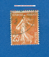 1927 / 1931  N° 235   TYPE  SEMEUSE FOND PLEIN   OBLITÉRÉ DOS CHARNIÈRE - Abarten Und Kuriositäten