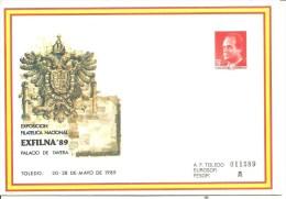 SEP FESOFI TOLEDO 1989 - Enteros Postales