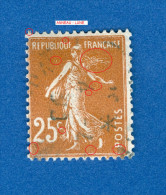 * 1927 / 1931  N° 235   TYPE  SEMEUSE FOND PLEIN   OBLITÉRÉ DOS CHARNIÈRE  TB - Plaatfouten En Curiosa