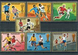 PARAGUAY 1973 Coupe Du Monde Munich 1974 Y&T 1325-1331** - Sin Clasificación