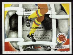 COLOMBIE  BF 42  * *   ( Cote 6.50e )  Cup 1990    Football  Soccer  Fussball - Wereldkampioenschap