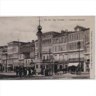 LCRÑTP5795-LFTD2457.Tarjeta Postal DE CORUÑA.Edificios,carro,calle,personas En El CANTON GRANDE En LA CORUÑA.. - Sin Clasificación