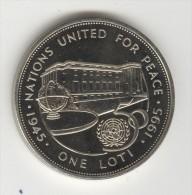 1 Loti Lesotho 1995 - 50 ème Anniversaire ONU / U.N. 50th Anniversary - Lesotho