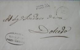Ligurien Umschlag Porto Maurizio An Das Bürgermeisteramt In Dolcedo (Imperia) 1862 - 1. ...-1850 Prefilatelia