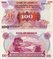 UGANDA       100 Shilingi       P-19b       ND (1982)      UNC - Uganda