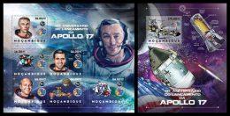 MOZAMBIQUE 2012 - Apollo 17, Space - YT 5203-8 + BF643; CV = 38 €